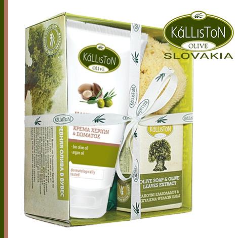 Darčekový-set-Olivové-mydlo-olivové-listy-krémom-na-ruky-argán–470×470