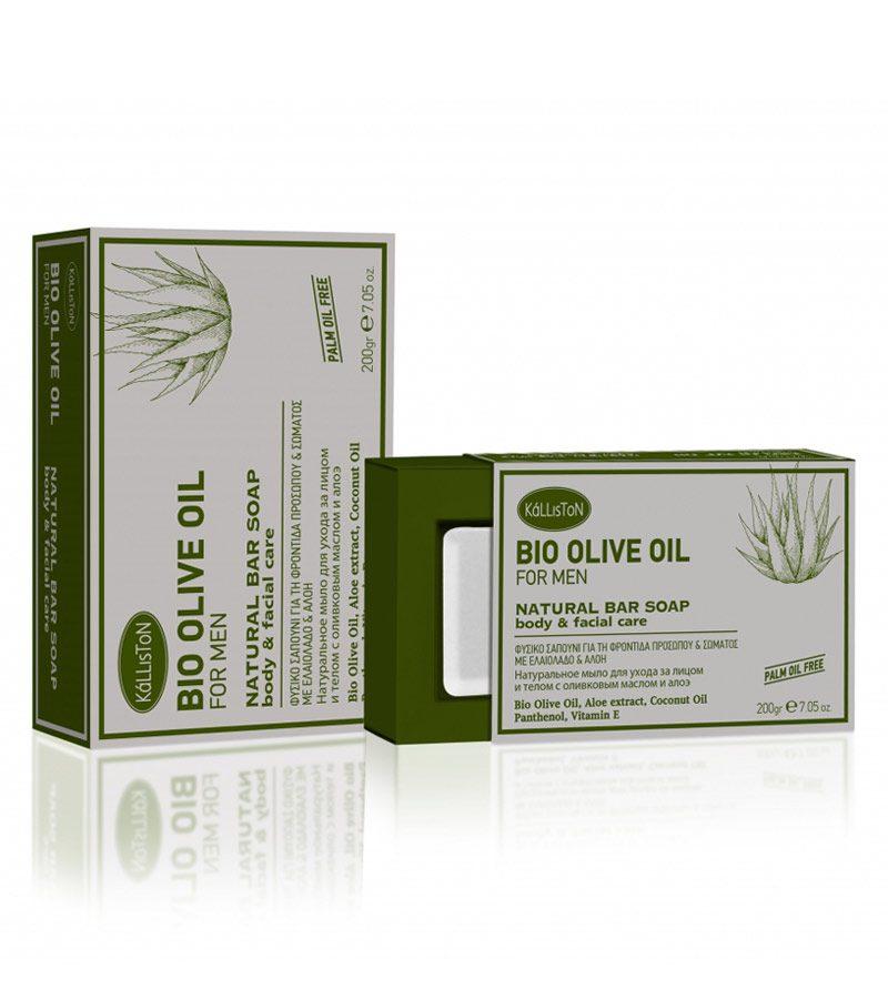 Kalliston-BIO-Olive-Oil—Natural-Bar-Soap—Aloe—body&facial-care-200g